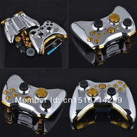 Wholesale Silver Chrome Full Housing Shell Case Gold Buttons for Xbox Wireless Controller kFkMg