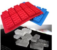 Wholesale LFGB Block Brick Ice Mold Silicone Ice Cube Tray