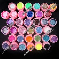 acrylic color pot - new Color Glitter UV Gel Builder False Tips Acrylic Nail Art Polish Kit Set pink pot