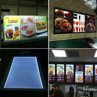 led picture light - advertising picture frames led light box for slim advertising display