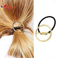 aqua rocks - 2015 new fashion rock punk gold open circle hair bands hair ponytail tie for women accessories Jewelry elasticos de cabelo