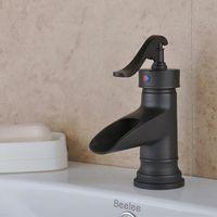 antique brass bathroom faucet - Antique Style Oil rubbed Bronze Finish Single Handle Brass Bathroom Sink Faucet B