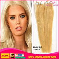 remy tape hair extensions wholesale - Blonde tape hair extensions new hair Brazilian remy human hair pieces cheap tape in hair extensions Fast delivery DHL