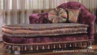 New clássica de estilo europeu sofá chaise longue cadeiras sofá reclinável tecido roxo vivenda de luxo móveis