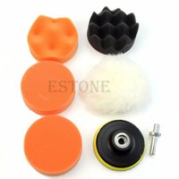 Wholesale inch Buffing Pad Auto Car Polishing Wheel Kit Buffer M14 Drill Adapter