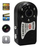 T8000 1080P HD mini espía cámara digital 12.0mp más pequeño DV DVR video ocultado de infrarrojos de visión nocturna cámara de vídeo en la caja 15pcs al por menor / lot