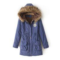 Women Hooded Long Sleeve women coat, long fur collar hooded women coat,warm winter parkas,fashion 7 colors 6 size berber Fleece lining winter coat