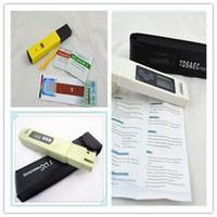 Wholesale 3 TDS EC Meter Tester PH EC meter conductivity meter Pen aquarium tester filter water quality