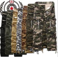 camo pants for men - New Army Men s Clothing Military camo cargo pants leisure Trousers Combat Trousers Camouflage work pants for men plus size colors