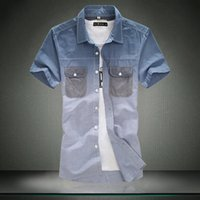 air combustion - Autumn New Explosion And Combustion Air Hanging Cotton Men s Fashion Casual Short sleeved Shirt