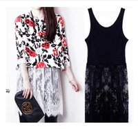 Cheap The spring of South Korea in the long cotton lace embroidered vest sling bottom dress slim dress Perspective