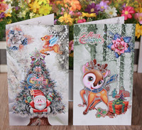 Wholesale 100 piece Wishing Greeting Cards Christmas Decoration Christmas Trees Pendant Christmas Gift Xmas Adornment Party Ornament