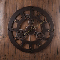 antique round wall clock - Bronze Ring Reloj Wall Clocks Decor Antique Classical Eueope American Wall Clocks Large Metal Round Quartz Wall Clocks GZ16013