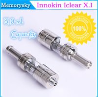 Cheap Innokin iclear X.I clearomizer with Pyrex tube 3.0ml Capacity for Innokin Itaste 134 Mechanical Mod with Changeable Double Coils 002562