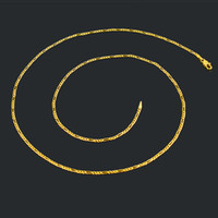 gold chains - New cm Figaro Chains k Real Gold filled Chain Wedding Jewelry long chain necklace