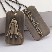 bear license - 12 Cosplay Jewelry ps4 BLOOD BORNE online military license necklace pendant jewelry cm