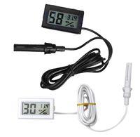Wholesale New Moisture Meters White Black Mini Thermometer Hygrometer Gauge Humidity Meter Digital LCD Monitor VE150 W0