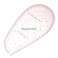 Wholesale ASLT Styling Design Ruler French Curve Hip Curve Cut Out Slot Straight Ruler order lt no track
