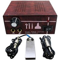 adjustable foot pedals - New Professional Single Adjustable High Power Aluminum Tattoo Power Supply With Foot Pedal and Clip Cord P131 U pick Color