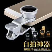 Wholesale 2015 HOT SALE Universal In Clip on Fish Eye Macro Wide Angle cell Phone Lens Camera kit apply for Apple iPhone And Android freeshipping