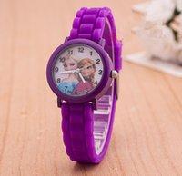 Wholesale New Silicone Multicolor Cute Frozen Watch Cartoon Cartoon Children Kids Girls Quartz Watches Lovely Christmas Gift