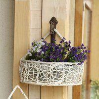 basket coffee table - Flower Basket Hanging Holder Homes Garden Floral Wedding Party Storage Suitable Decoration Coffee Shop Office Table Glorify