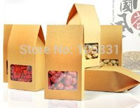 Wholesale 30X Brown small kraft paper boxes for packaging jewelry gifts candy food cm cm can Customize logo printing