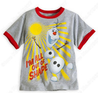 frozen tshirt - Froze Children Boys Short Sleeve Tops Kids Clothing Summer Olaf Tshirts Childs Boy Cartoon Tshirt Clothes Wear Gray J3493