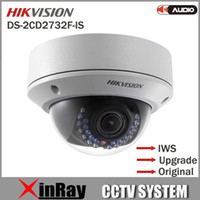indoor mini dome ip camera - New Original Hikvision DS CD2732F IS MP Full HD IP66 Mini Dome Camera Water Proof POE Power Network IR IP CCTV Camera IWS V5