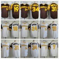 Wholesale Men s Chase Headley Roberto Alomar Carlos Quentin Jersey Cheap Padres Baseball VINTAGE Throwback jersey