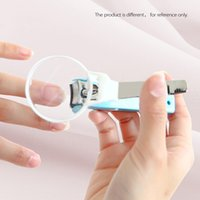 glass cutter - Pocket Nail Finger Toe Nail Clipper Cutter Pliers with Magnifying Glass Hygiene Tools for Baby Old People W395