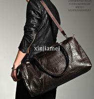 leather weekend bags - Freeshipping Fashion Crocodile Grain Men Travel Bag High Quality Travel Duffel Bags Leather Weekend Traveling Gym Bag
