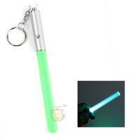 achat en gros de bâton gros led-Vente en gros - Flash Torch Lightsaber Keychain LED Lumière Glow Magic Wand Stick Pen Chaîne principale GF6 shopping