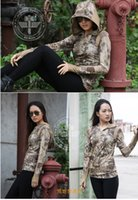 Cheap camouflage female fast drying long-sleeved hoodies Rattlesnake shooter special forces breathable Sweatshirts T-shirt for outdoor war game