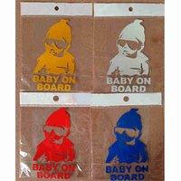 Wholesale fashion reflective baby on board stickers color baby on board stickers car stickers reflective baby on board stickers refective stickers