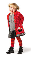 add points - Y Girls baby added velvet Wave point Thick Sweater Cardigan coat winter new clothing