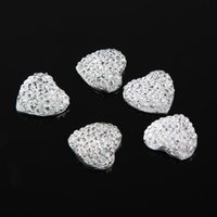 Wholesale Chic Sliver Resin Heart Flatback Scrapbooking Accessories For Phone Wedding Craft DIY Drop Shipping HG WT