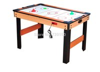 air hockey pucks - Field hockey table with electric air hockey toys wood texutre style with handles pucks count parts charger