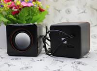 Wholesale 2014 Mini speaker notebook speaker usb mini small speaker low price MP3 player amplifier one pair