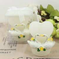 Wholesale New Arrival Swan candle Gfit Romantic holiday supplies crafts marriage wedding decoration birthday party decoration