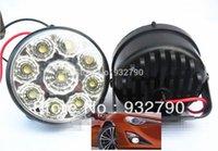 Wholesale 2X LED Vehicle Car DRL Driving Daytime Running Day LED Fog Light Head Lamp order lt no track