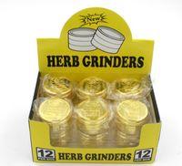 parts for - 3 parts mm mm cnc grinder Golden Metal Tobacco grinders for tobacco dry herbal grinders Grinder For E Cigarette Vaporizer