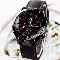 Wholesale Skmei White Silicone - 2015 Gt Men's Fashion Sports Car Line Silicone Waterproof Watch Free Shipping Strap Skmei 50m Watches Military Men
