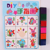 Wholesale Children s DIY finger painting color pigment safety non toxic paint painting painting creative toys bag pieces