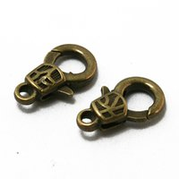 Cheap 300pcs -9x17mm Antique Bronze Alloy Lobster Clasp Vintage Metal Clasps Jewelry Findings Fit Necklace Bracelet Making DH-FKA003-77