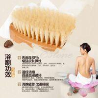 Wholesale L109Natural Long Wood Wooden Body Brush Massager Bath Shower Back Spa Scrubber