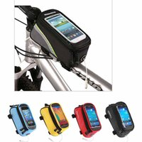 bicycle saddlebag - New bike Phone bag bicycle saddlebag D Polyster fabric roswheel front tube bike bag outdoor cycling bicycle bike bag
