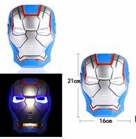 PVC halloween spider - LED Masks Light Superhero patriot Batman Spider Man Captain America Hulk Iron Man Mask For Kids Adults Party Halloween Birthday