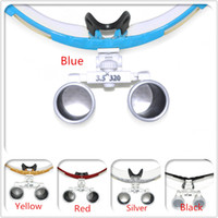 Cheap Five Colors 3.5X 320mm Optical Glass Loupe Dentist Dental Surgical Medical Binocular Loupes