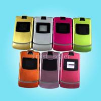 Wholesale HOT SELL V3 Quadband Refurbished Original Razr AT T T Mobile Unlocked Cell Phone Hot sale DHL FREE